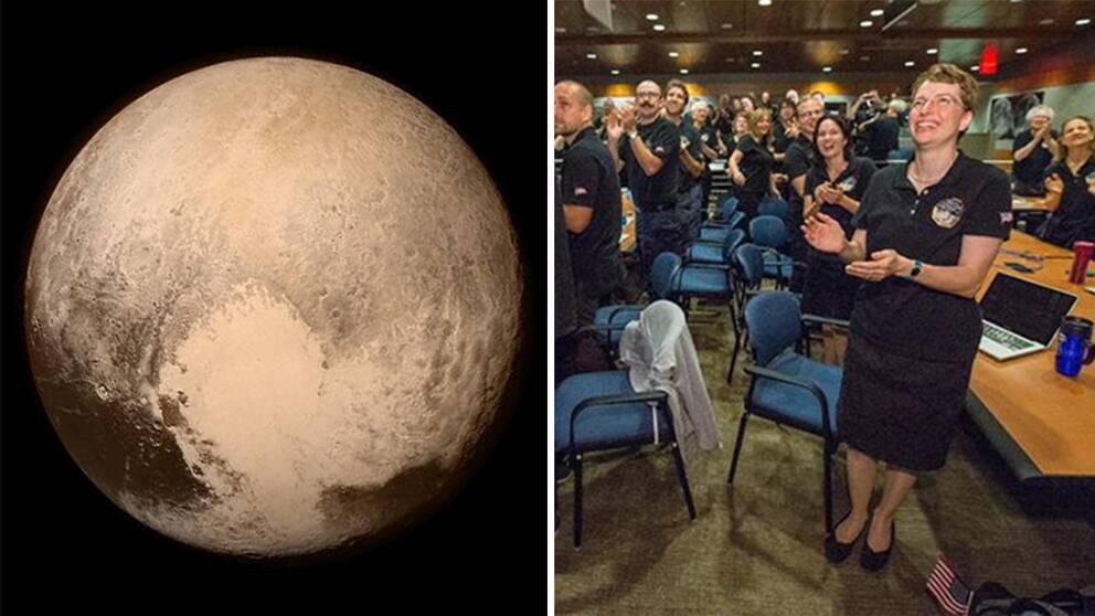 Rymdsonden New Horizon har nu passerat dvärgplaneten Pluto – och på Nasa jublade man åt den historiska rymdfärden.