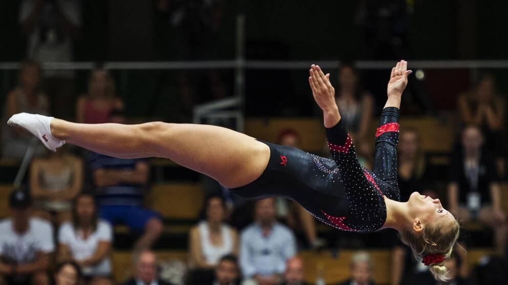 Lina Sjöberg kvalade sig vidare till final.