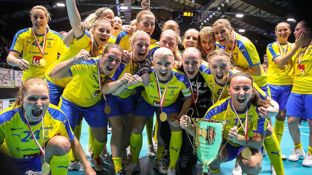 Sverige jublar efter VM-guldet 2019.