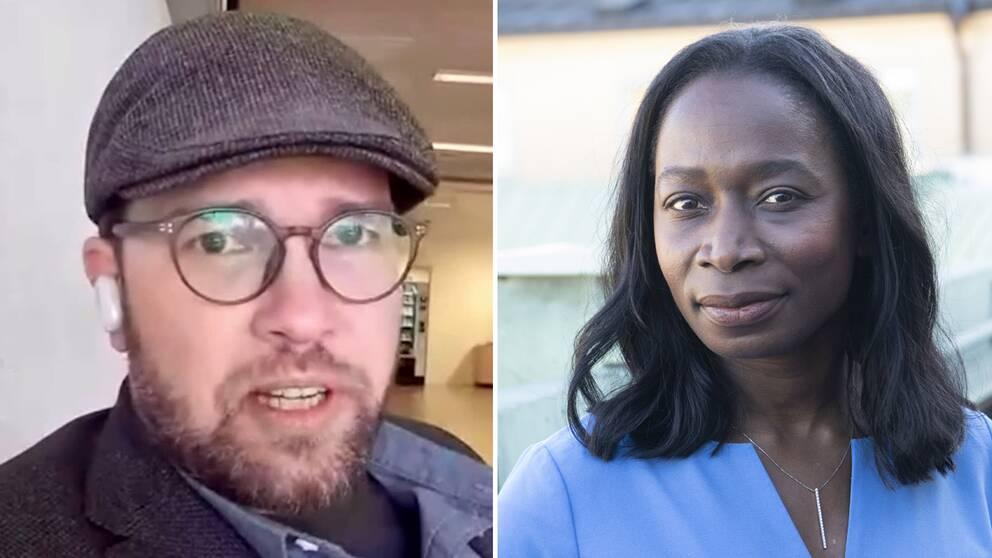 Sverigedemokraternas partiledare Jimmie Åkesson och Liberalernas partiledare Nyamko Sabuni