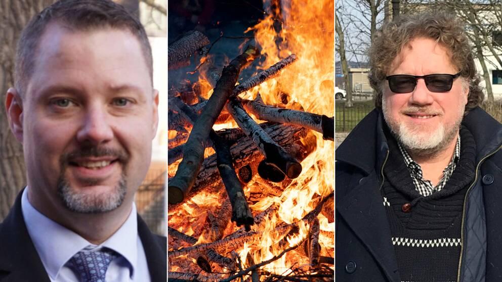 Två män och en eld