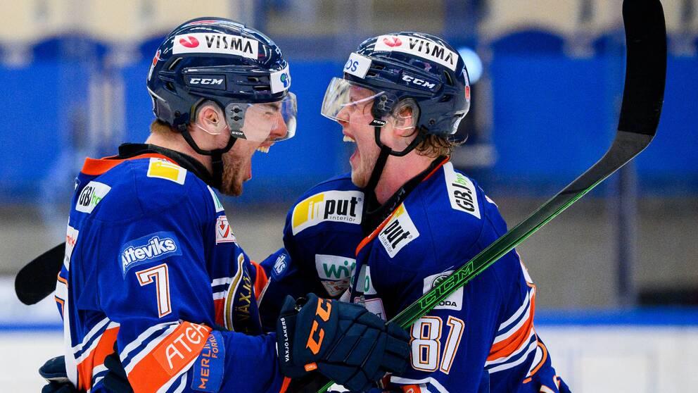 Växjös Hardy Häman Aktell och Fredrik Karlström.