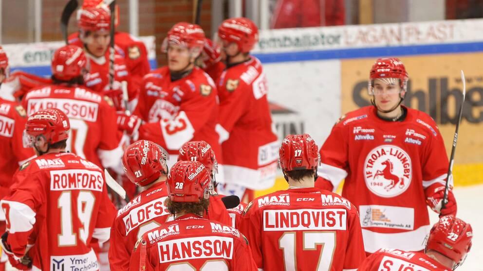 Bild på Troja-Ljungby på isen, säsongen våren 2021.