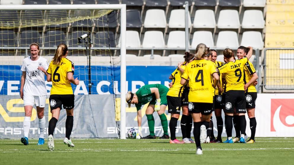 Pauline Hammarlund har precis gjort 3-0 till Häcken.