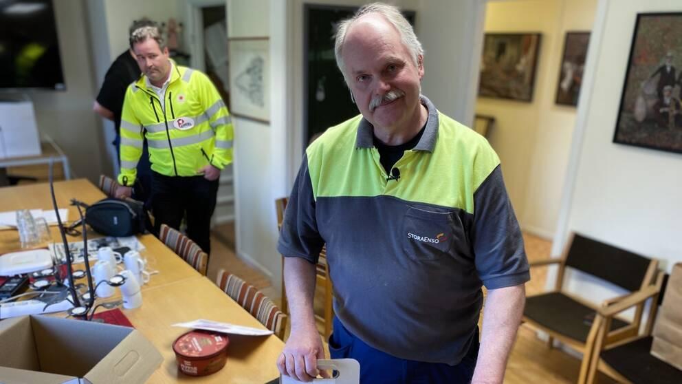 Bild på Anders Pettersson, ordförande för Pappers vid Kvarnsvedens pappersbruk