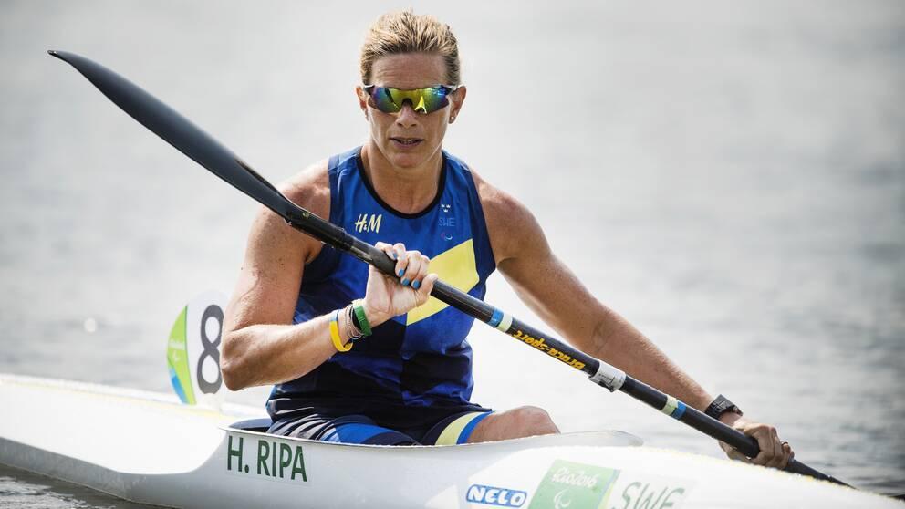 Helene Ripa kom på en åttondeplats under kvalet i Ungern.