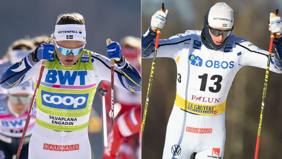 Linn Svahn och Oskar Svensson kan tävla tillsammans i Falun