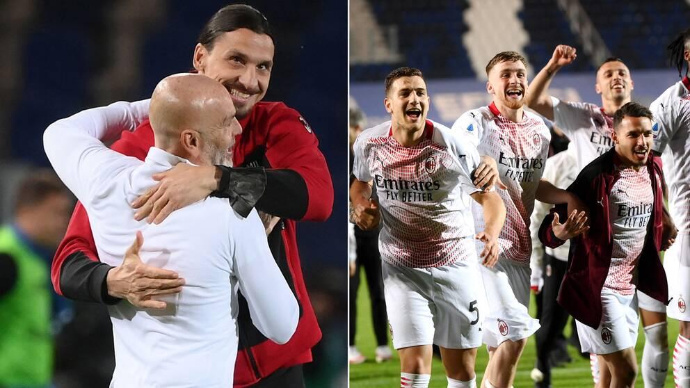 Milan, med skadade Zlatan Ibrahimovic på läktaren, slog Atalanta.