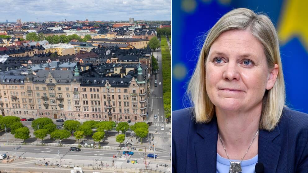 Finansminister Magdalena Andersson (S) leder arbetsgruppen som föreslår miljonärsskatt.