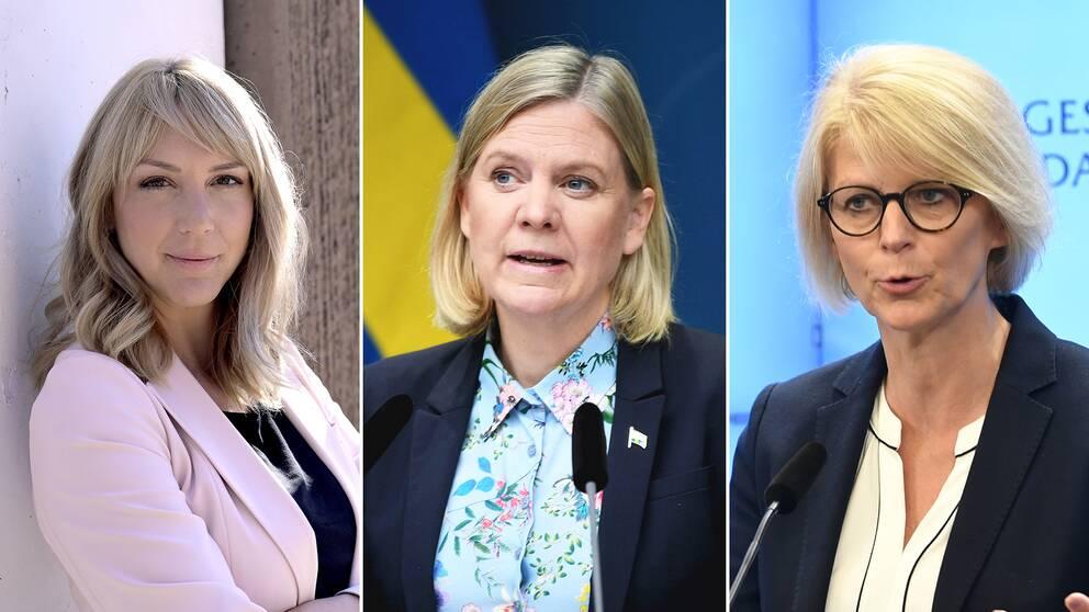 Frida Bratt, Magdalena Andersson, Elisabeth Svantesson