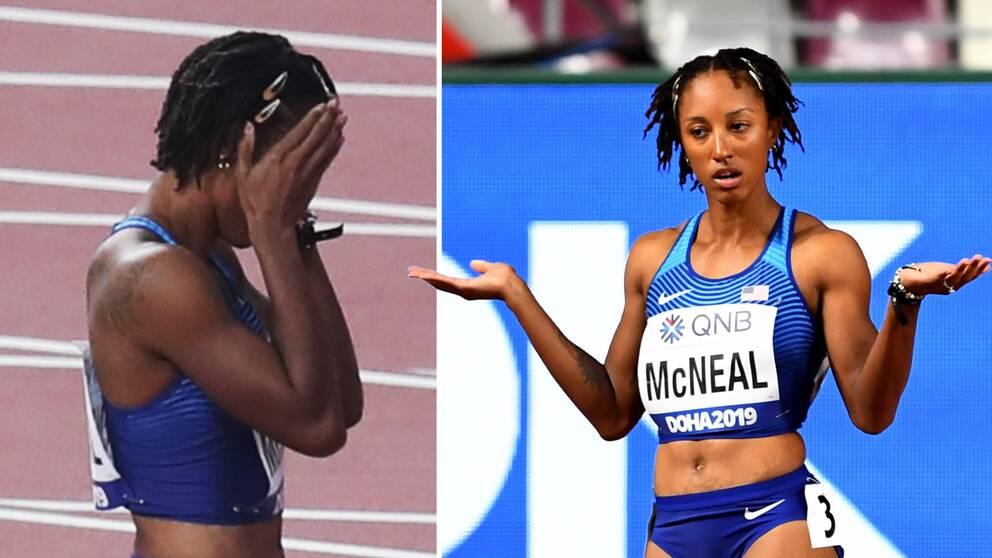 OS-guldmedaljören Brianna McNeal stängs av för dopningsbrott.