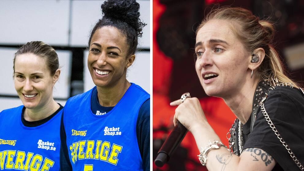 """Silvana Imam har gjort Sveriges officiella EM-låt inför sommarens mästerskap. Spelarna Frida Eldebrink och Kalis Loyd medverkar i videon till """"Känslan""""."""