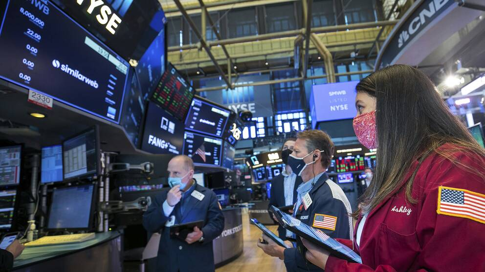 Börsnoterare på Wall Street.