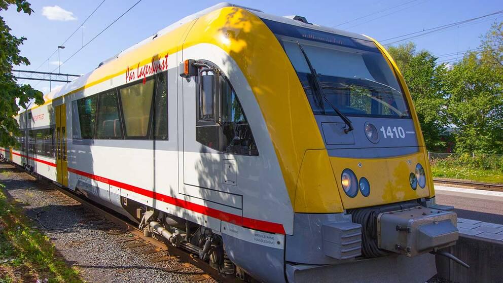 Krösatåget på stationen i Jönköping i juli månad.