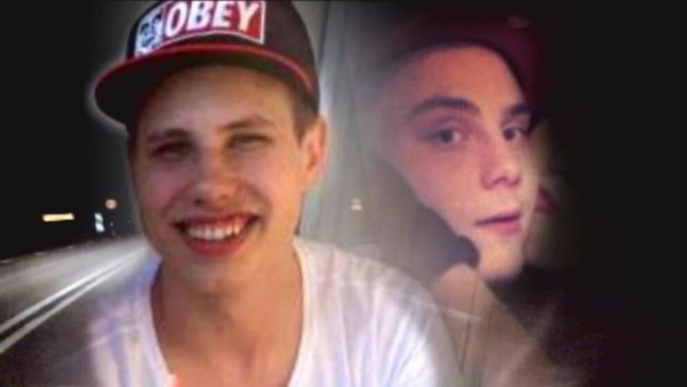 De omkomna 20-åringarna Dennis Olsson och Rasmus Björk.