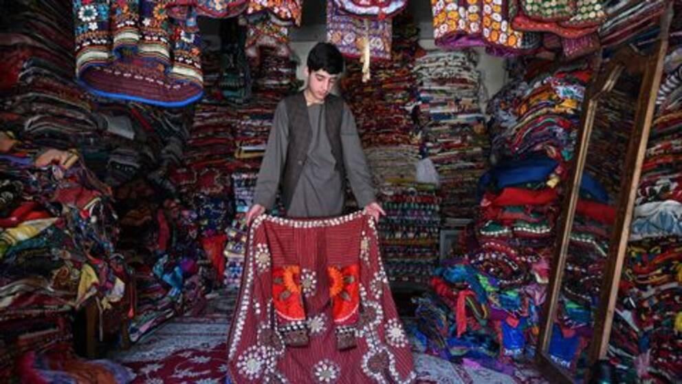gatuförsäljare i Kabul