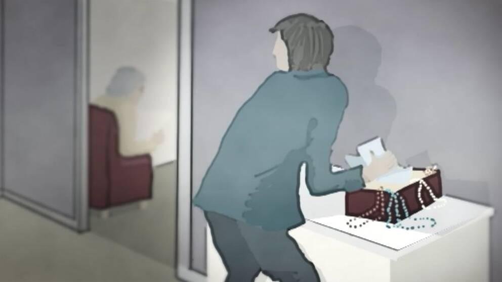 teckning stöld hos äldre