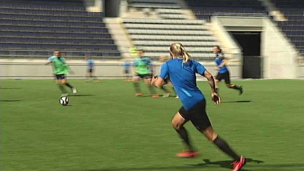 fotbollsträning damer