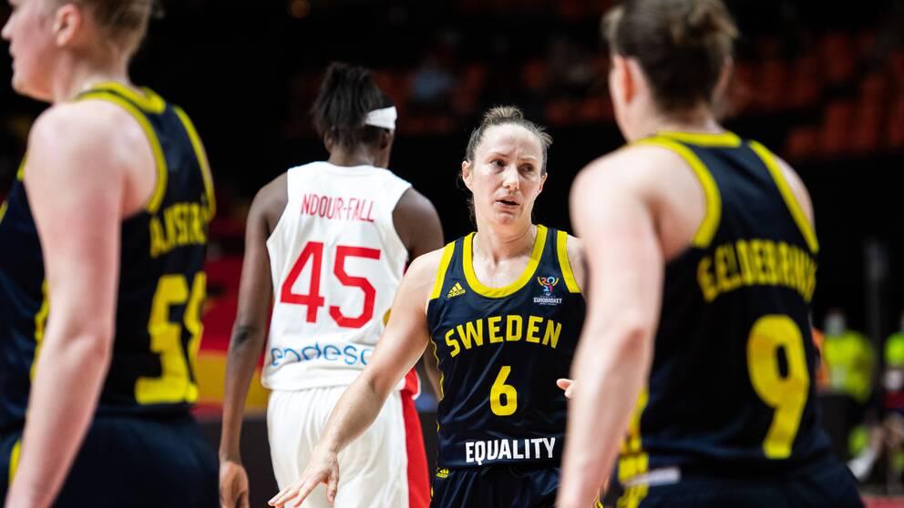 Frida Eldebrink och Sverige föll tungt mot Spanien.