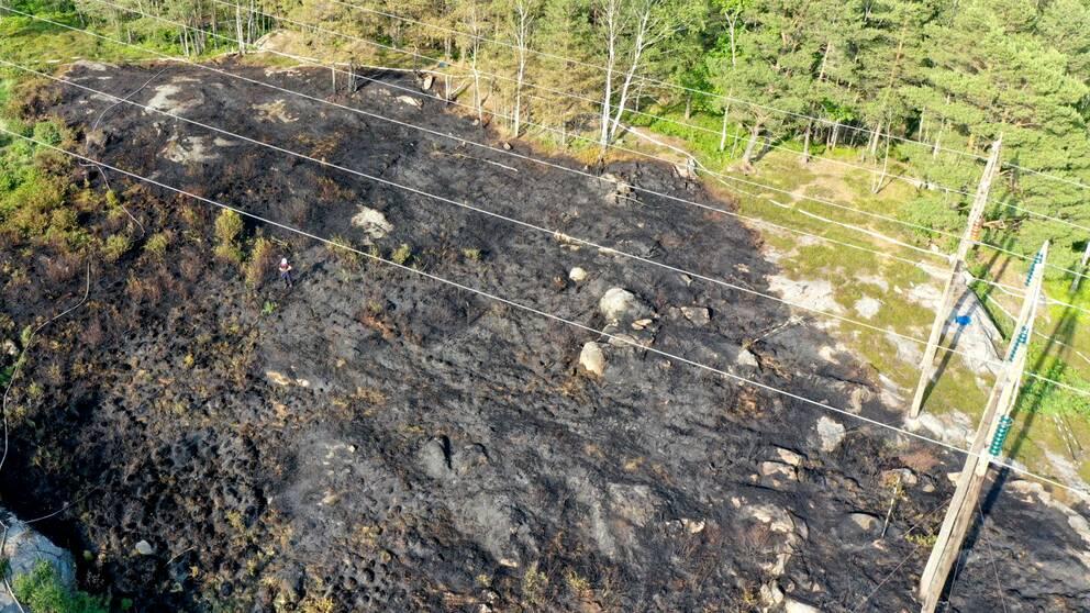 Skogsbrand i Sandsjöbacka.