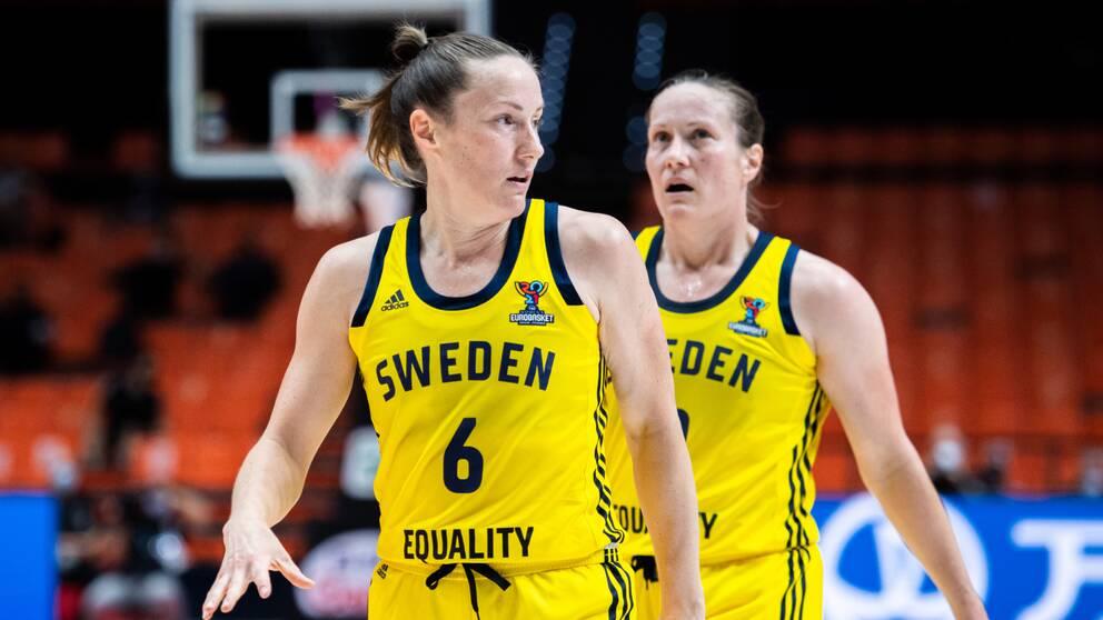 Frida och Elin Eldebrink var poängstarkast för Sverige.