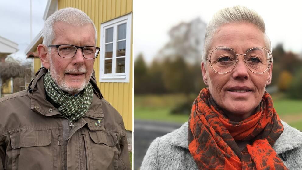 Riksdagsledamöterna Anders Åkesson (C) och Monica Haider (S)