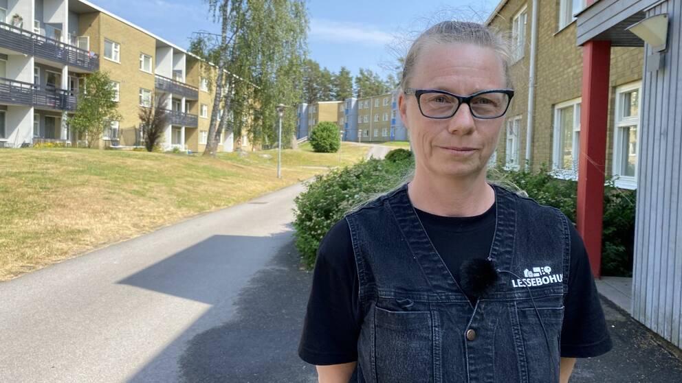 Susanne Seluska, ordförande för Vänsterpartiet i Kronobergs län. Foto: Oskar Mattisson/SVT