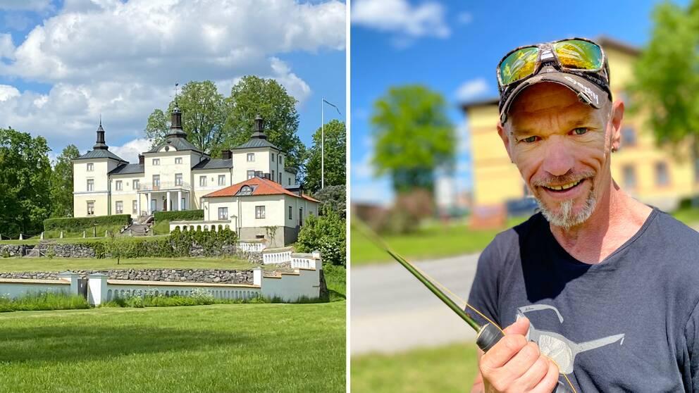 Stenhammars slott och sportfiskaren Stefan Norström