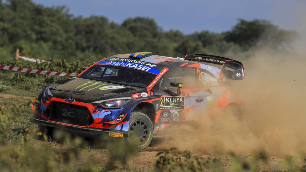 Oliver Solberg gjorde sin andra start i WRC-klassen.