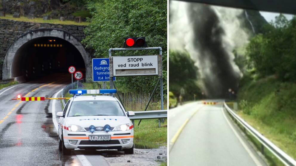 Bussbrand i norsk tunnel