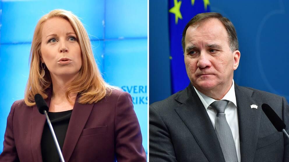 Annie Lööf och Stefan Löfven