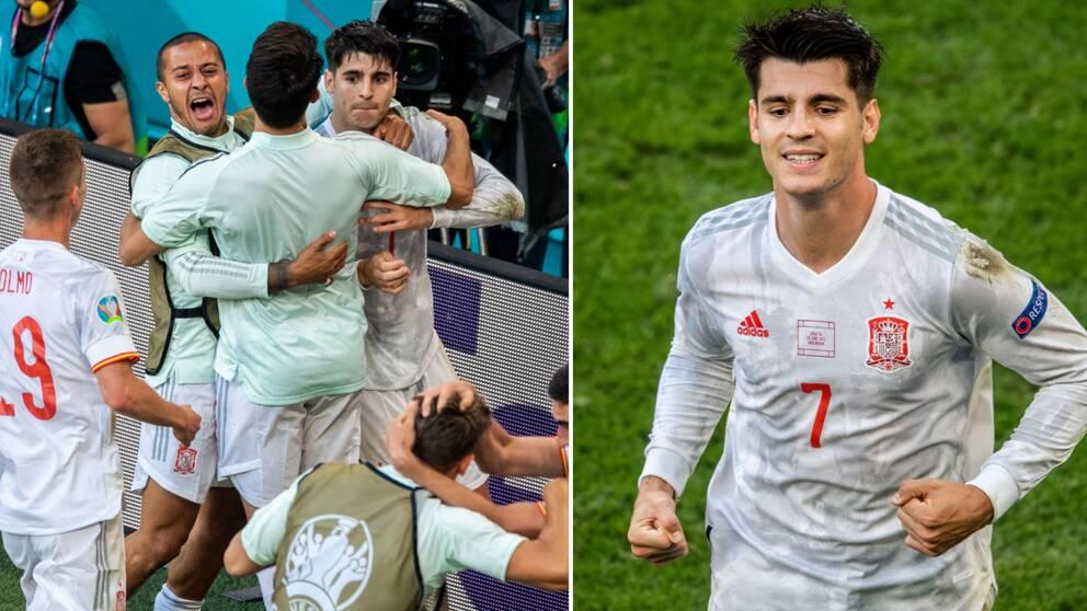 Moratas 4-3-mål blev avgörande när Spanien vann efter förlängning