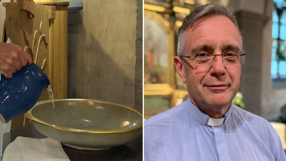Tf kyrkoherden Anders Lennartsson är lättad över att allt fler bokar in dop i takt med de lättade restriktionerna.