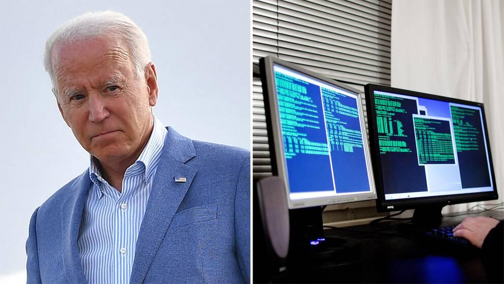 Joe Biden vid besöket i Michigan/Genrebild.