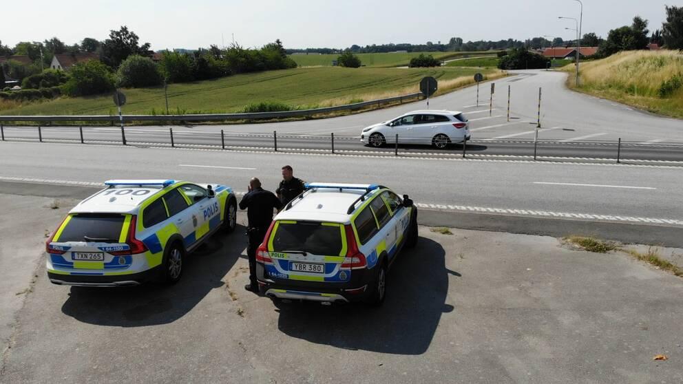 Efter polisens ökade bevakning på E65 mellan Ystad och Malmö har stenkastningen mot danska trafikanter upphört och bara en trafikolycka rapporterats in.