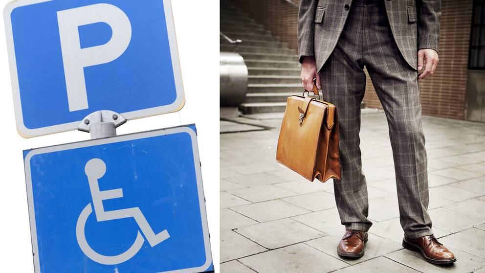 SVT Nyheters granskning visar att missbruket av parkeringstillstånd för handikappade är utbrett inom samhällets övre skikt.