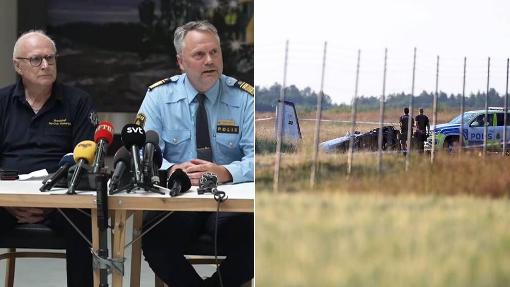 Pressträff om flygkraschen i Örebro