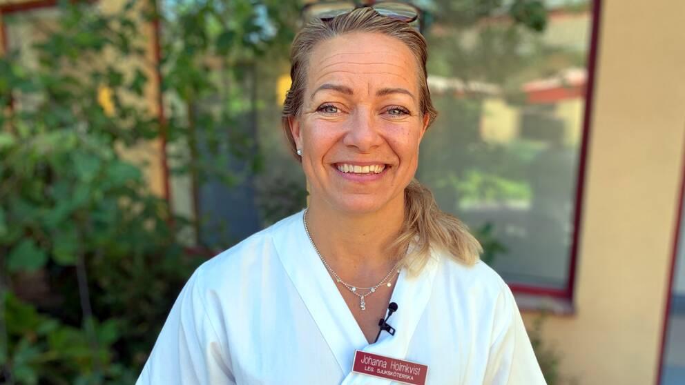 Sjuksköterksan Johanna Holmkvist