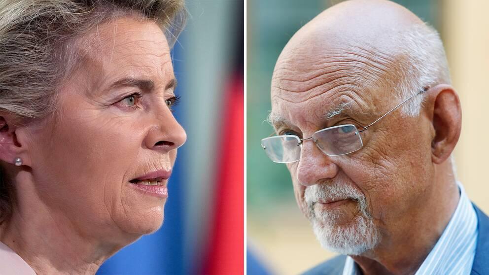 EU-kommissionens Ursula von der Leyen /EU-minister Hans Dahlgren.