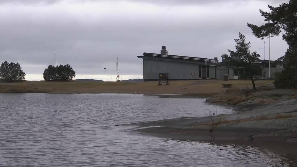Badvik vid Skutbergets motionscentral.