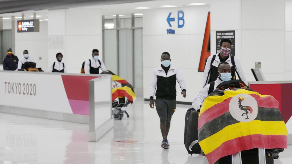 Ugandas OS-trupp på plats i Japan, men Julius Ssekitoleko är anmäld saknad.