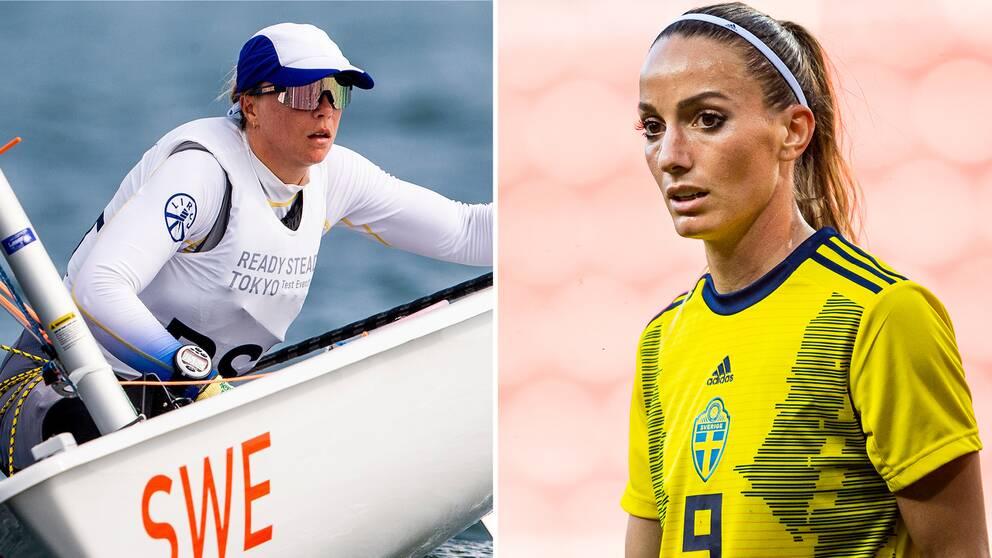 Josefine Olsson och Kosovare Asllani.
