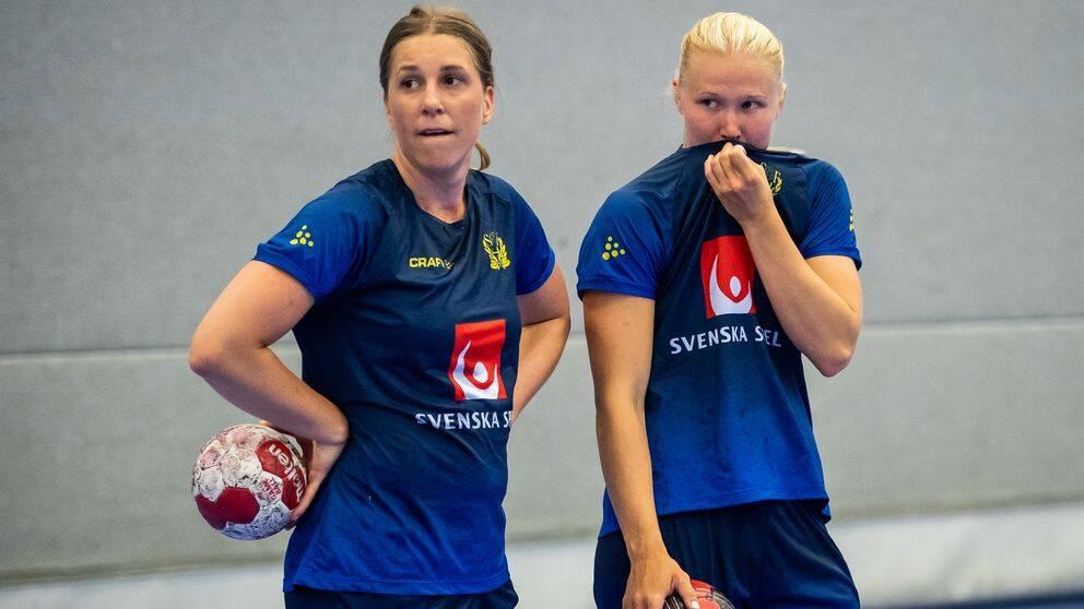 Isabelle Andersson (t.v.) tvingas hem från OS.