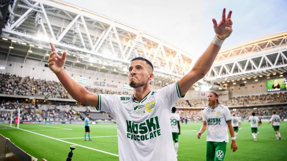 Astrit Selmani gjorde hattrick mot Maribor.