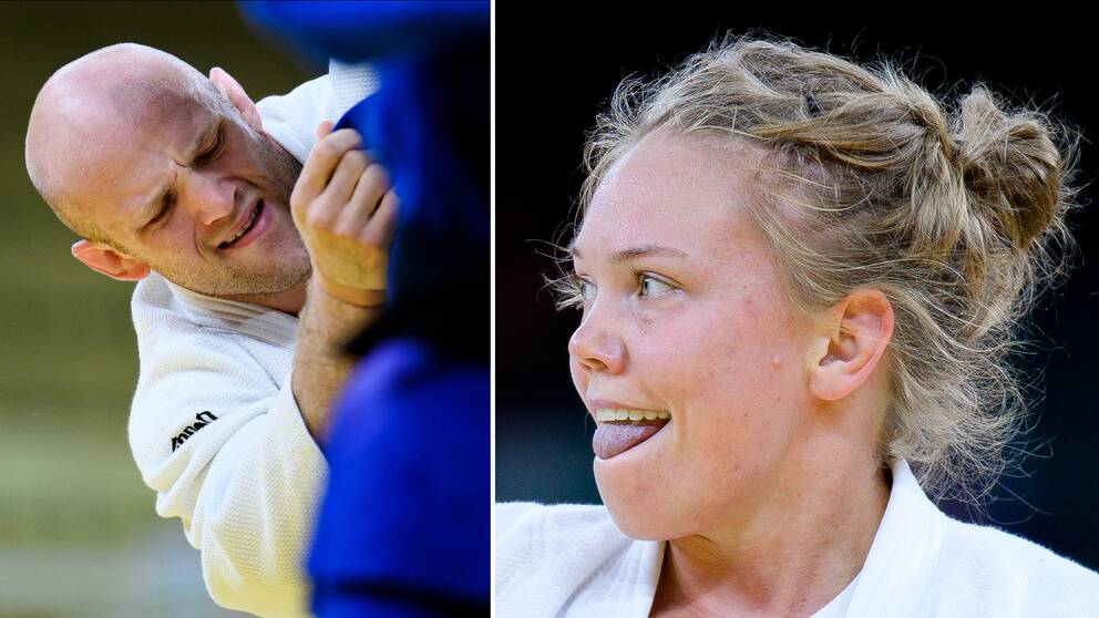 Marcus Nyman och Anna Bernholm vann sina första matcher i judo-turneringen.