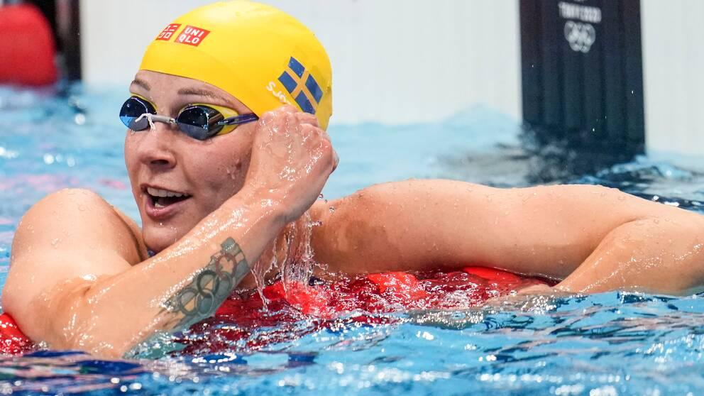 Sarah Sjöström slutade på fjärde plats i semifinalen på damernas 100 meter frisim under sommar-OS i Tokyo.