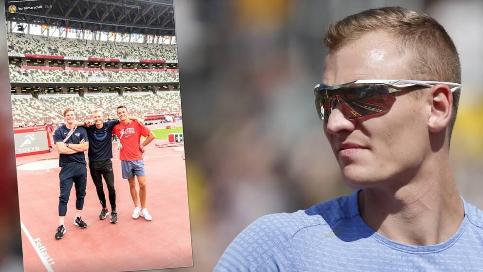 Sam Kendricks träffade i går den australiensiske stavhopparen Kurtis Marschall – så nu sätts hela Australiens friidrottslag i karantän.