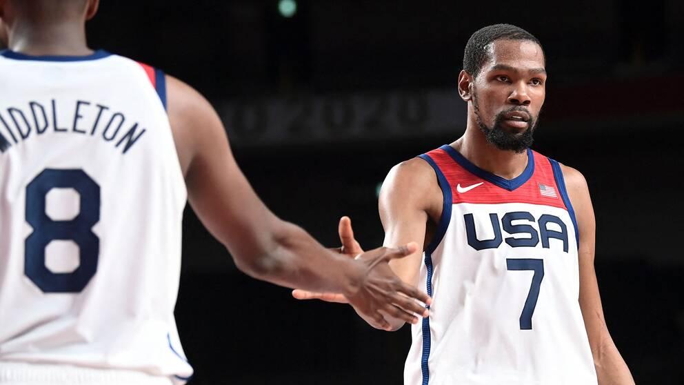 Kevin Durant är nu USA:s främste poängplockare någonsin i OS-sammanhang.
