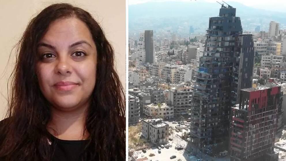 Örebroaren Racha El Daoi och foto över Beirut