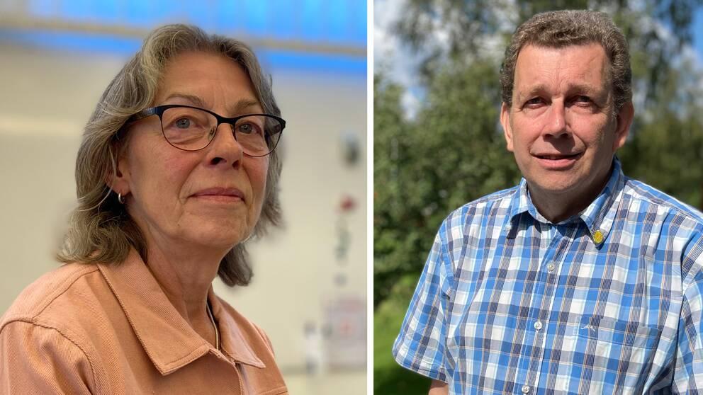Johanna Söderberg (C) och Hans Nilsson (politisk vilde)